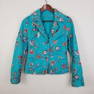 Johnny Was Embroidered Blazer Jacket
